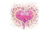 Pink heart made of circles wallpaper 1920x1200 jpg