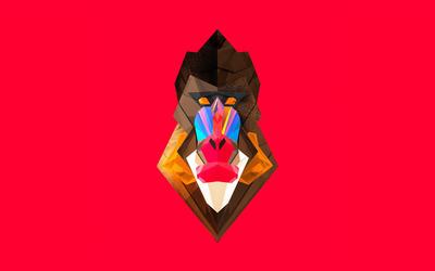 Polygon baboon wallpaper