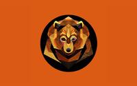 Polygon bear wallpaper 2560x1600 jpg
