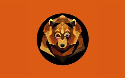 Polygon bear wallpaper
