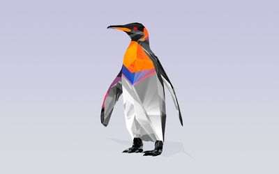 Polygon penguin wallpaper