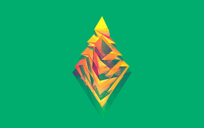 Polygon rhombus wallpaper