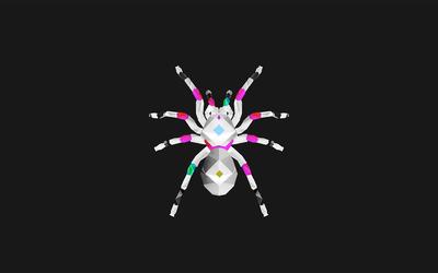 Polygon tarantula wallpaper