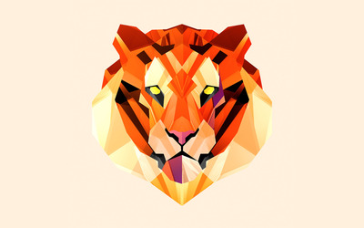 Polygon tiger wallpaper