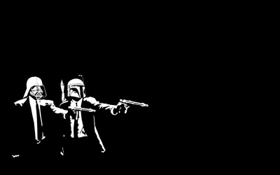 Pulp Fiction Star Wars crossover wallpaper