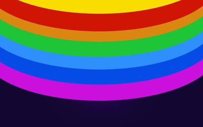 Rainbow colored circles [2] wallpaper