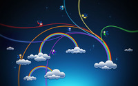 Rainbows over the clouds wallpaper 2560x1600 jpg