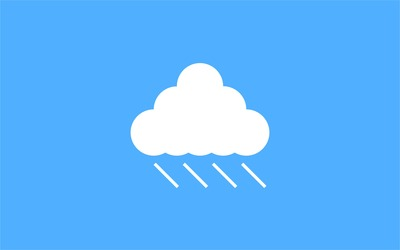 Raining from the cloud wallpaper