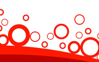 Red rings over curves wallpaper 1920x1080 jpg