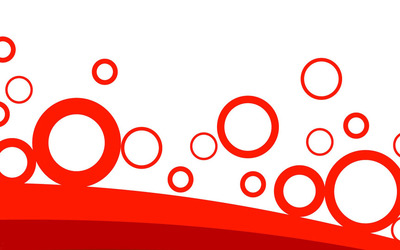 Red rings over curves wallpaper
