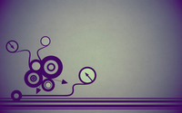 Retro circles, arrows and lines wallpaper 2560x1600 jpg