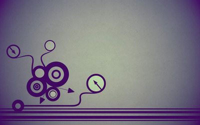 Retro circles, arrows and lines wallpaper