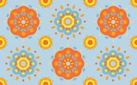 Retro flowers wallpaper 2560x1600 jpg