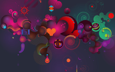 Round shapes wallpaper