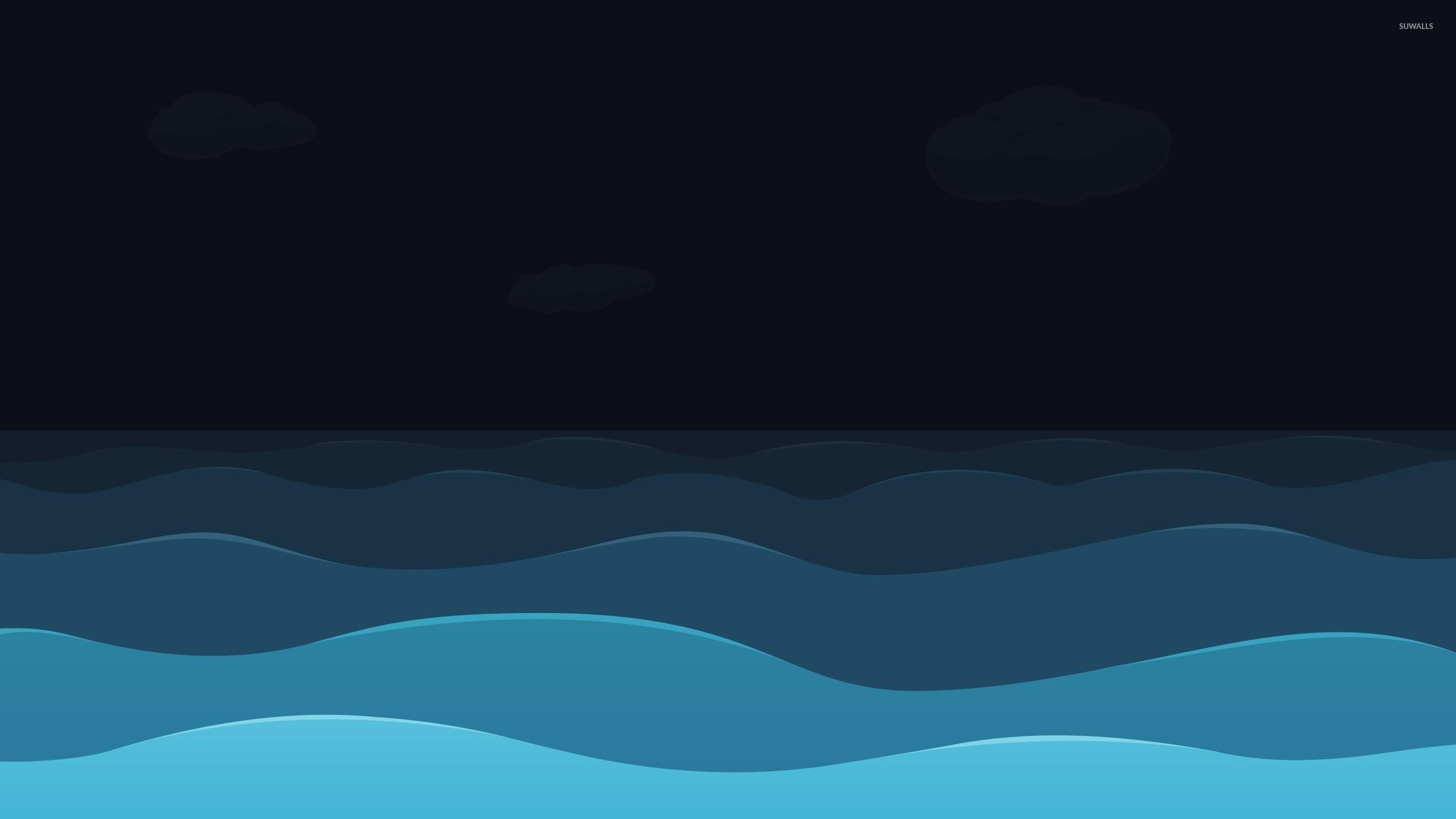 sea at night wallpaper vector wallpapers 21960