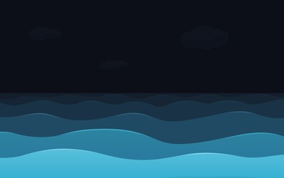 Sea at night wallpaper