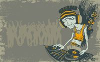 Skinny interesting looking DJ wallpaper 1920x1200 jpg