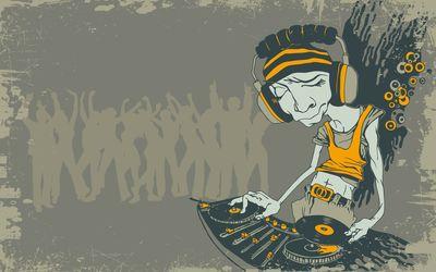 Skinny interesting looking DJ wallpaper