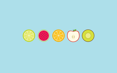 Sliced fruit wallpaper