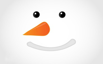 Snowman face wallpaper