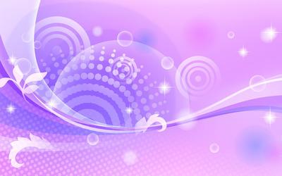 Sparkling waves and circle wallpaper