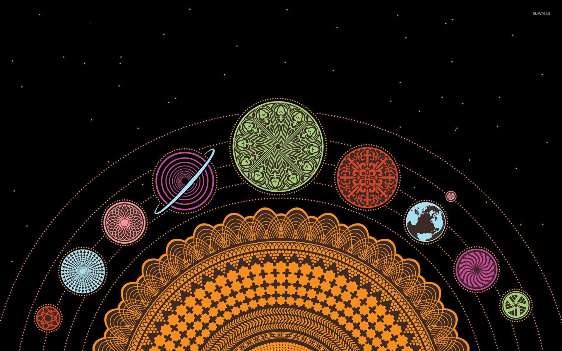 Spiral Solar System Wallpaper