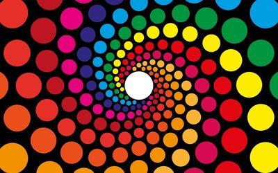 Spiraling circles wallpaper