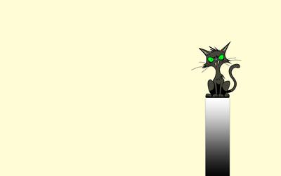 Spooky black cat wallpaper