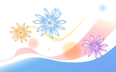 Stitched flowers wallpaper