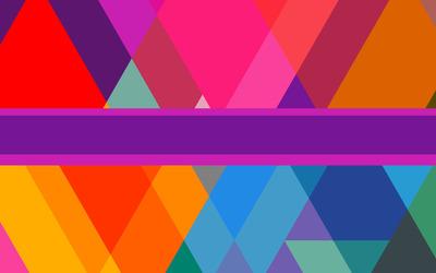 Stripe over rhombuses wallpaper