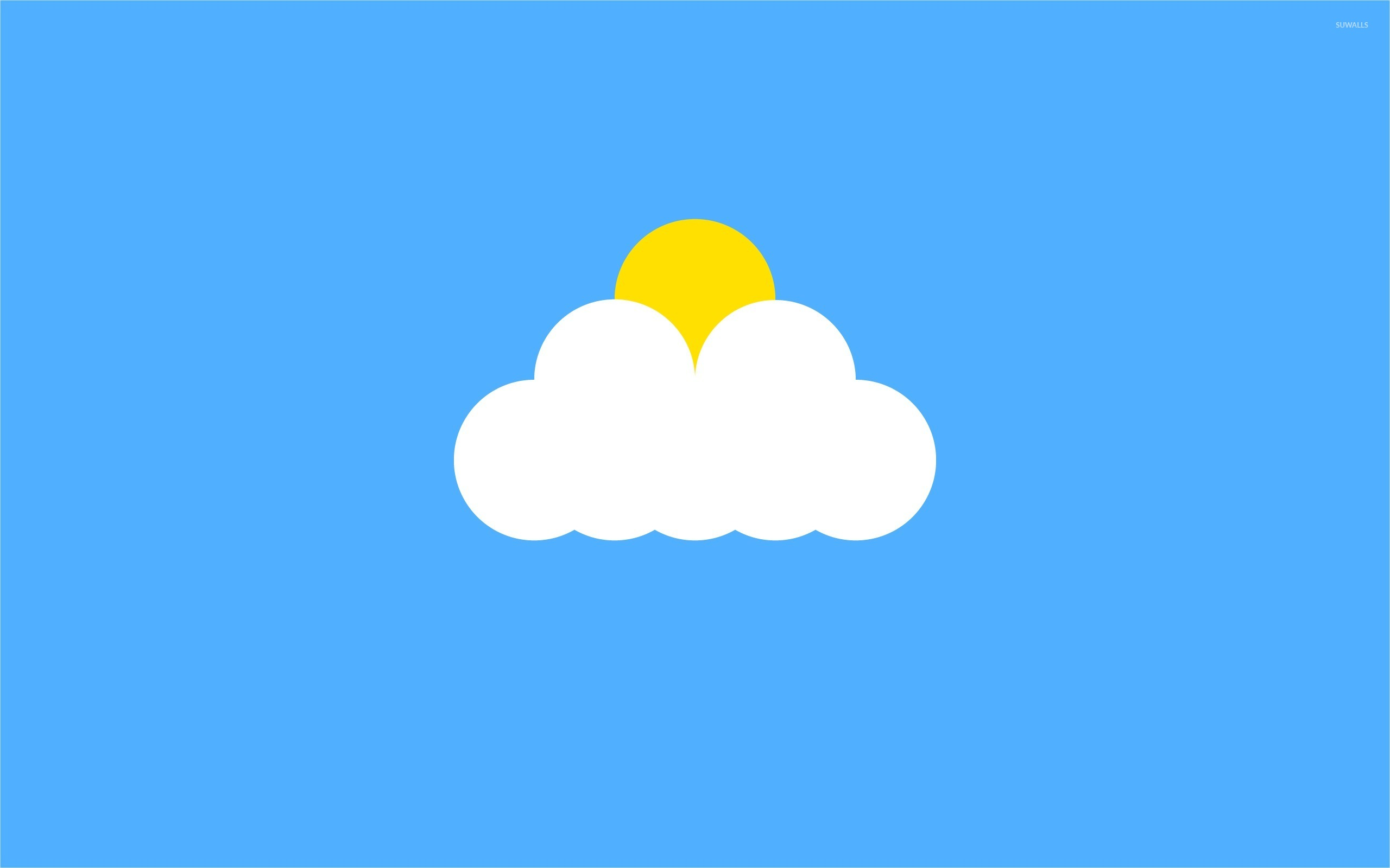 Sun Behind The Cloud Wallpaper Vector Wallpapers 53504