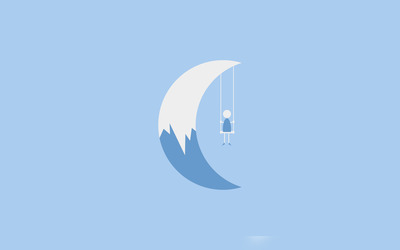 Swinging on the moon wallpaper