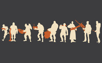 Team Fortress 2 silhouettes wallpaper 1920x1200 jpg
