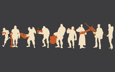 Team Fortress 2 silhouettes wallpaper