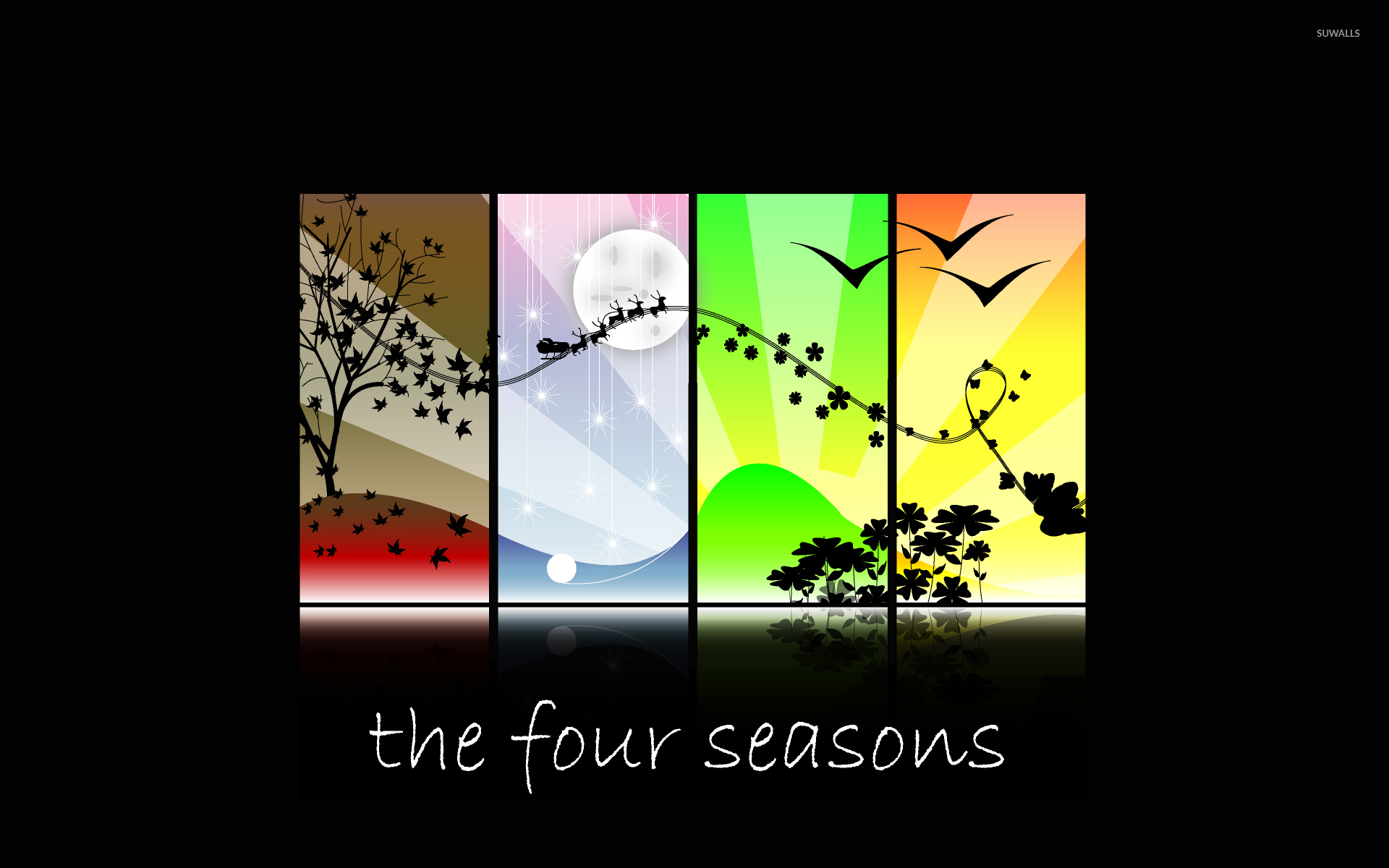 the four seasons wallpaper vector wallpapers 33139