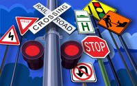 Traffic signs wallpaper 1920x1200 jpg