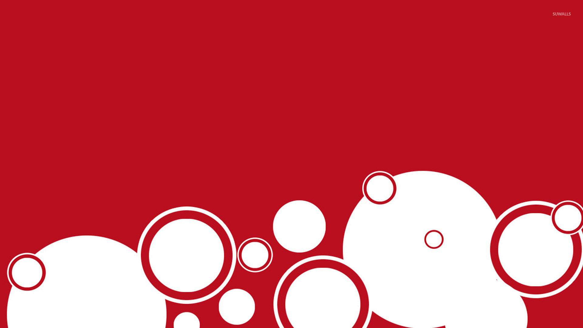 White Circles On Red Wallpaper Vector Wallpapers 24022