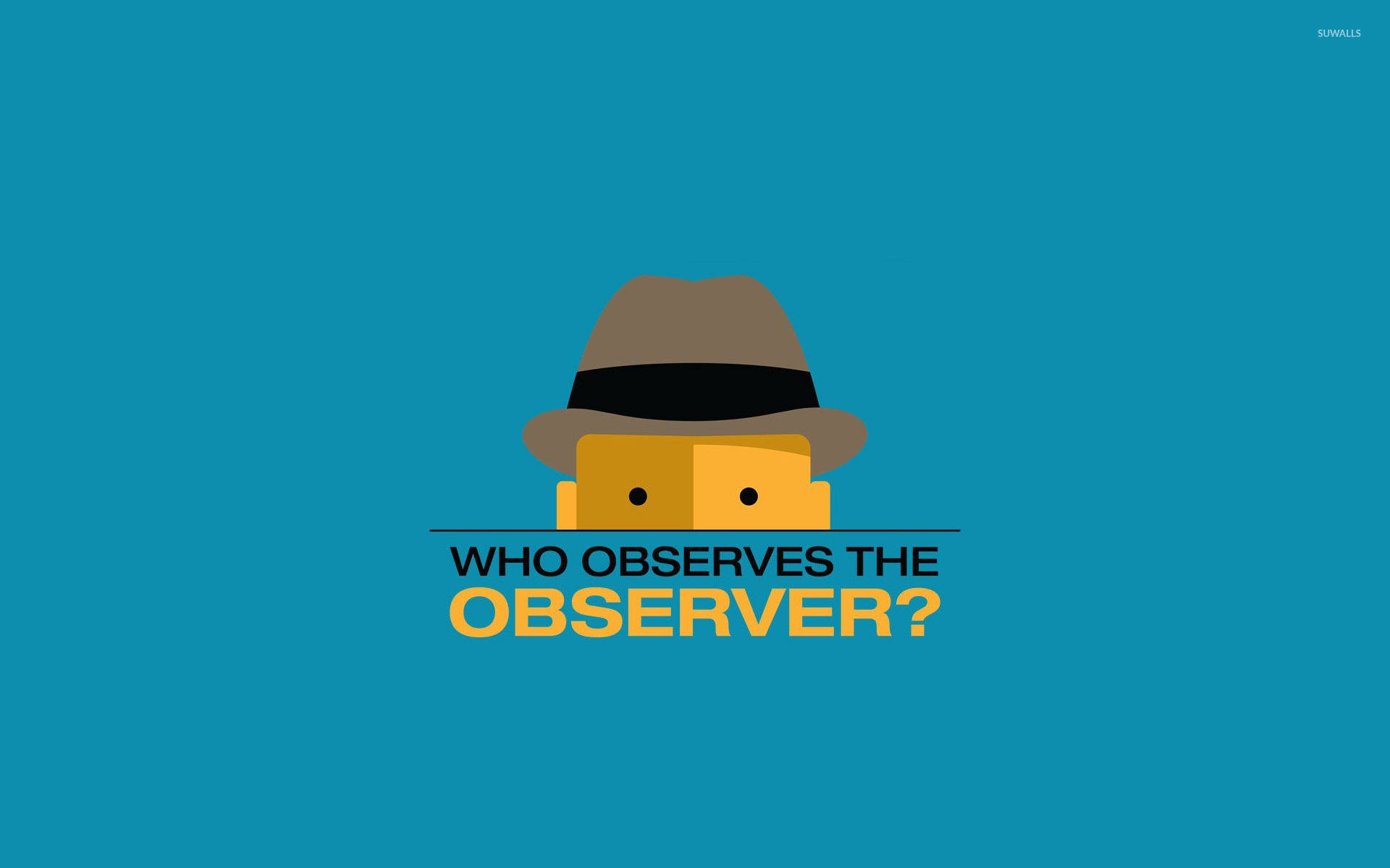 Who observes the observer wallpaper - Vector wallpapers ...