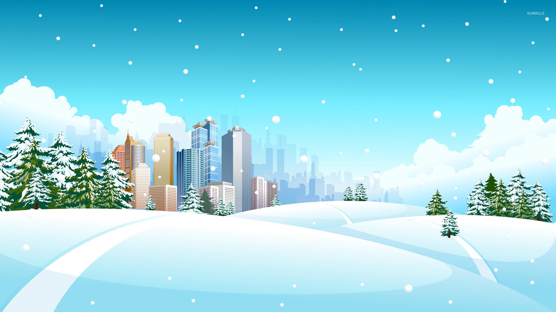 Winter Landscape 8 Wallpaper Vector Wallpapers 17052