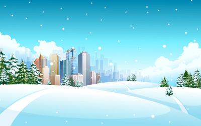 Winter landscape [8] wallpaper
