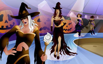 Witch Fashion Show wallpaper