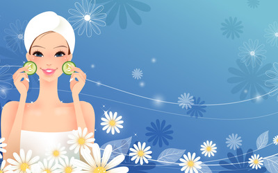 Woman at the spa wallpaper