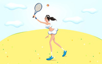 Woman playing tennis wallpaper 1920x1200 jpg