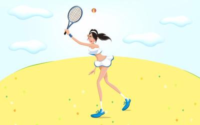 Woman playing tennis wallpaper