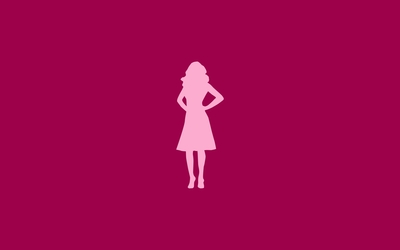 Woman silhouette wallpaper