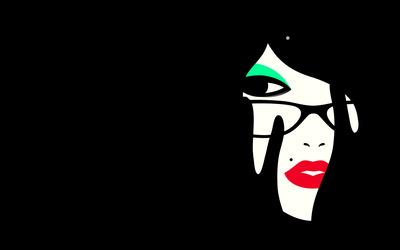Woman's face wallpaper