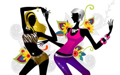 Women in the club wallpaper