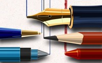 Writing instruments wallpaper 1920x1200 jpg