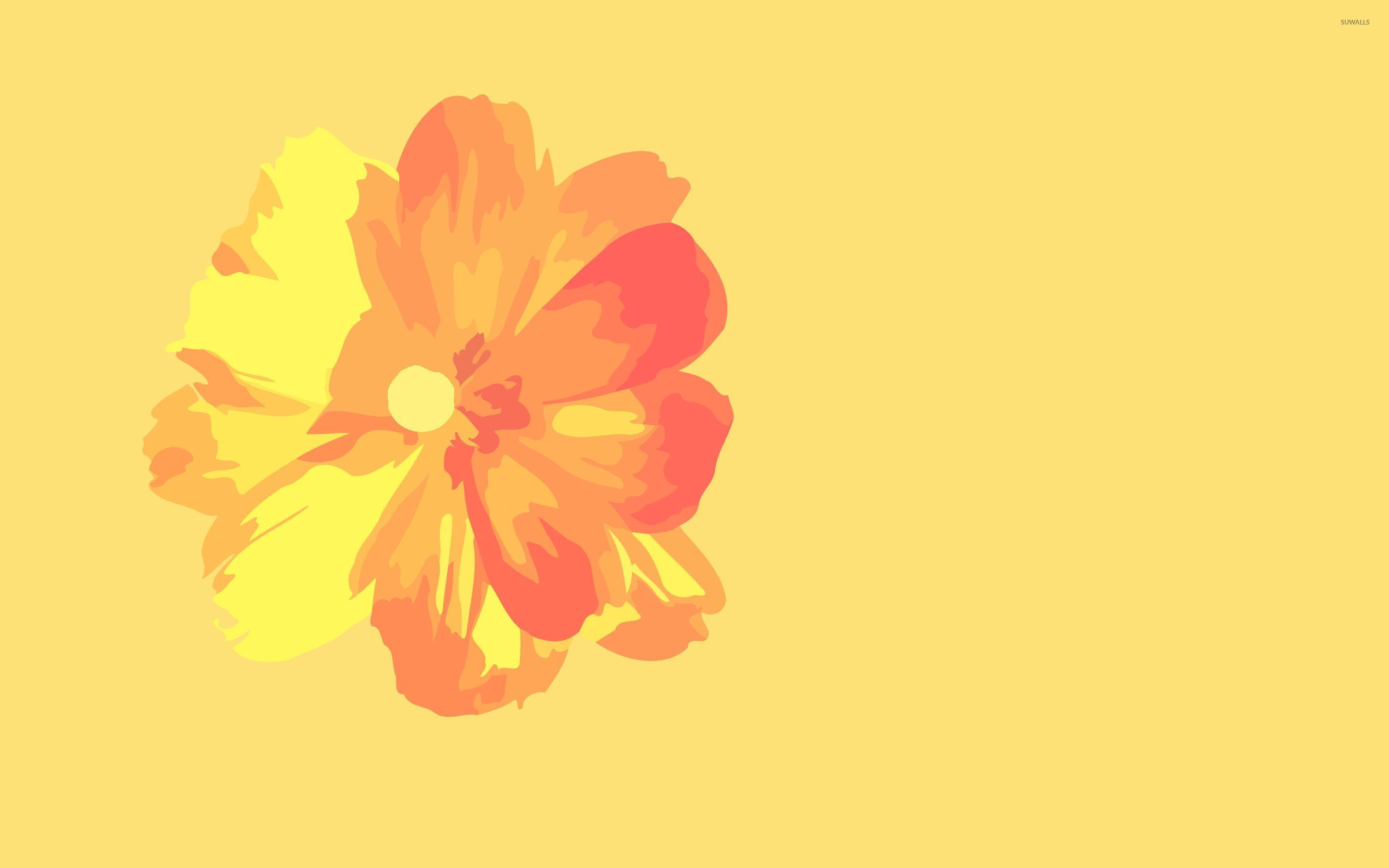 Orange Flowers wallpaper x