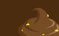 Yellow candies in chocolate ice cream wallpaper 2560x1600 jpg